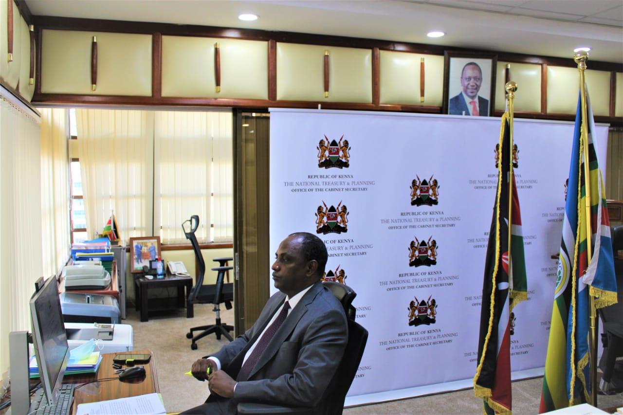 The National Treasury & Planning, Cabinet Secretary, Hon (Amb) Ukur Yatani officially opening the 9th Kenya National M&E week